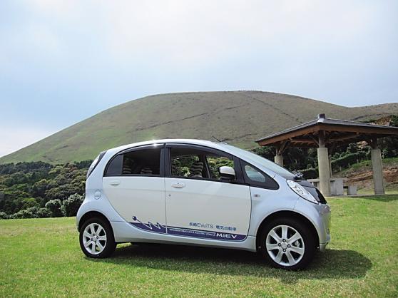 鬼岳と電気自動車