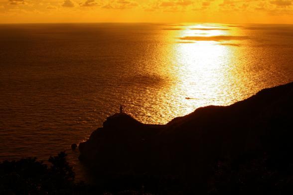 大瀬崎灯台の夕景2