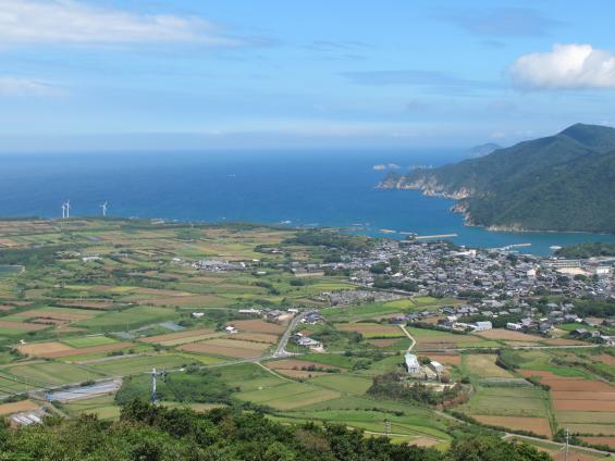 城岳展望台からの眺め