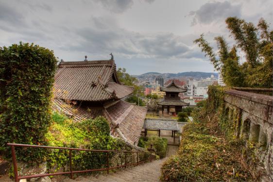 聖福寺から長崎市街1