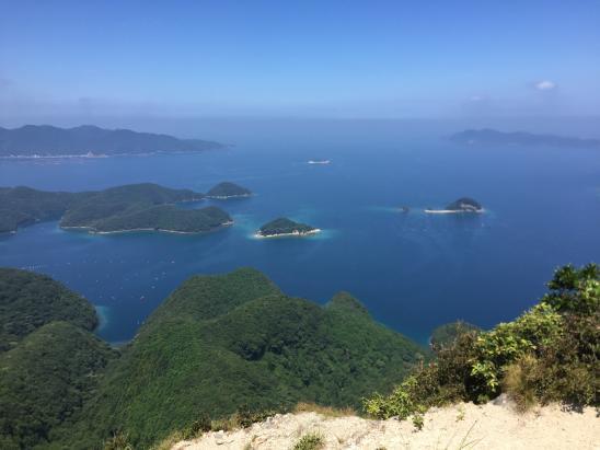 金田城 山頂