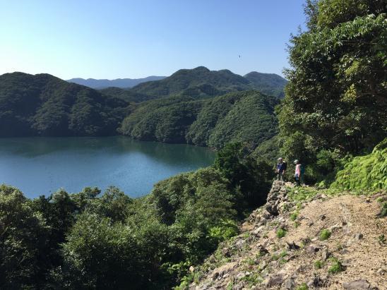 金田城 登山道