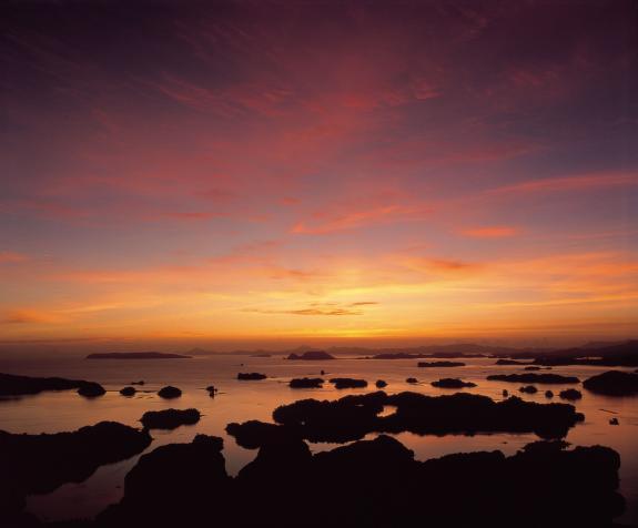 九十九島の夕景