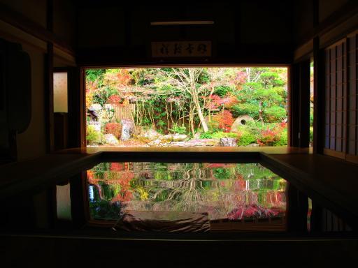 寿福寺の逆さ紅葉3