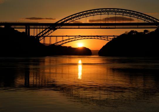 西海橋・新西海橋(ながさきサンセットフォトコンテスト2016道・橋部門最優秀賞)