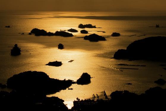 石岳展望台からの夕景2
