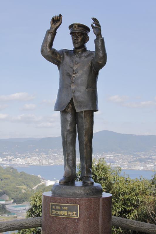 展海峰の田中穂積銅像