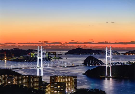 女神大橋(ながさきサンセットロードフォトコンテスト2016道・橋部門優秀賞作品)