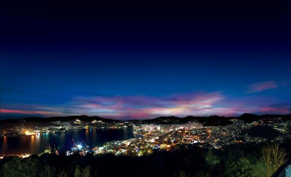 鍋冠山からの夜景 2