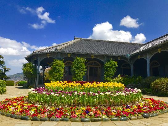 グラバー園 旧グラバ―住宅(春4月)