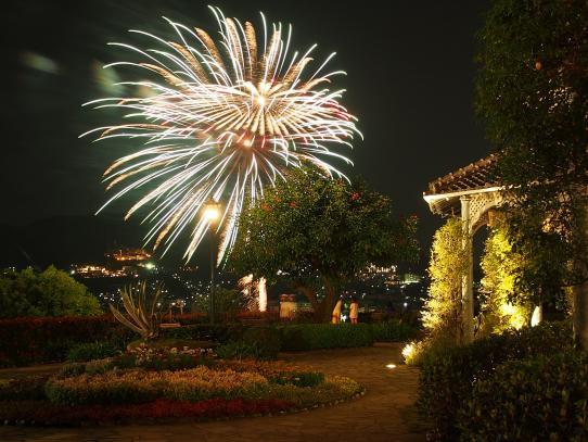 グラバー園からの花火
