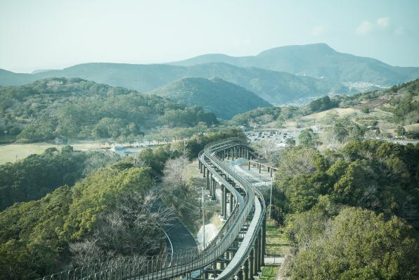稲佐山スロープカーからの景色