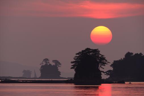 三つ小島の夕景©SASEBO