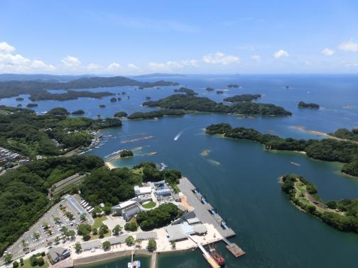 九十九島パールシーリゾートから望む九十九島©SASEBO