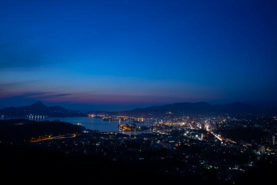 天神山公園 夜景1©SASEBO