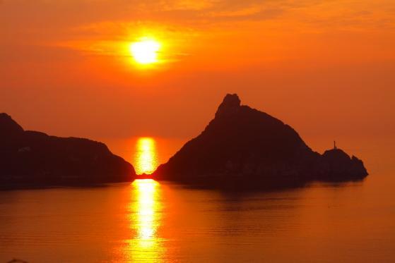 矢堅目公園 夕陽