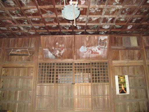 熊野神社の天井絵と絵馬