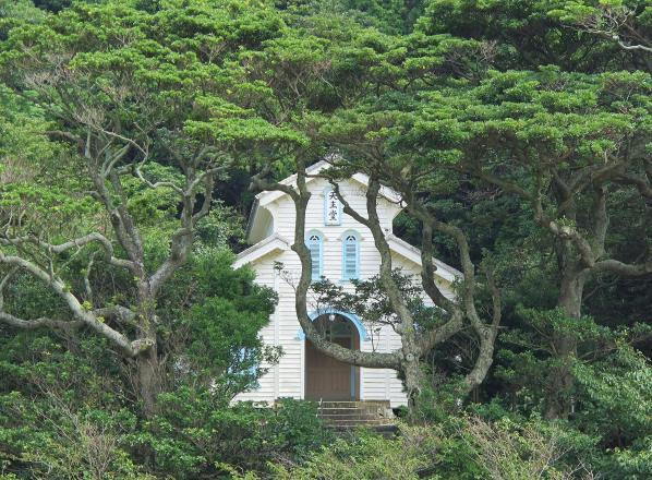 林の中の江上天主堂