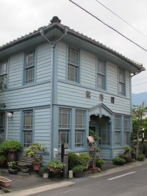 青い理髪店