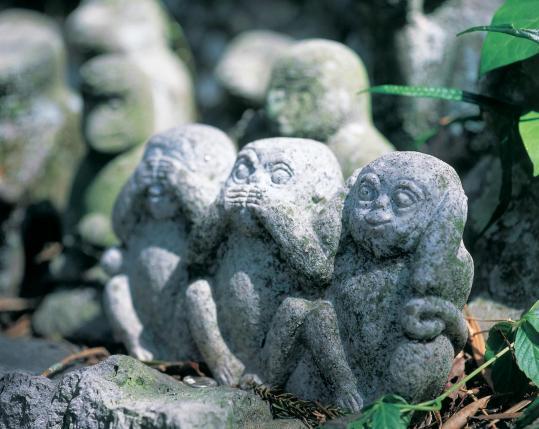 男岳神社石猿群4