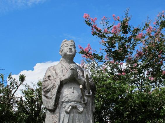 原城跡 天草四郎銅像1