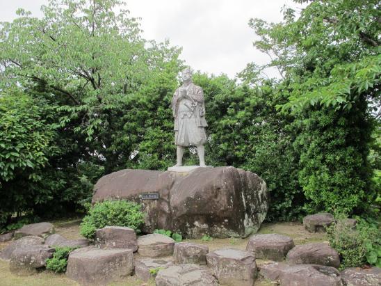 原城跡 天草四郎銅像2