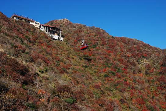 仁田峠の紅葉と雲仙ロープウェイ4