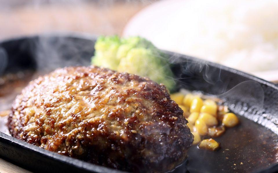 「壱岐牛ハンバーグ定食(180g)」1,000円 (スープ、サラダ、ライス付き)-0