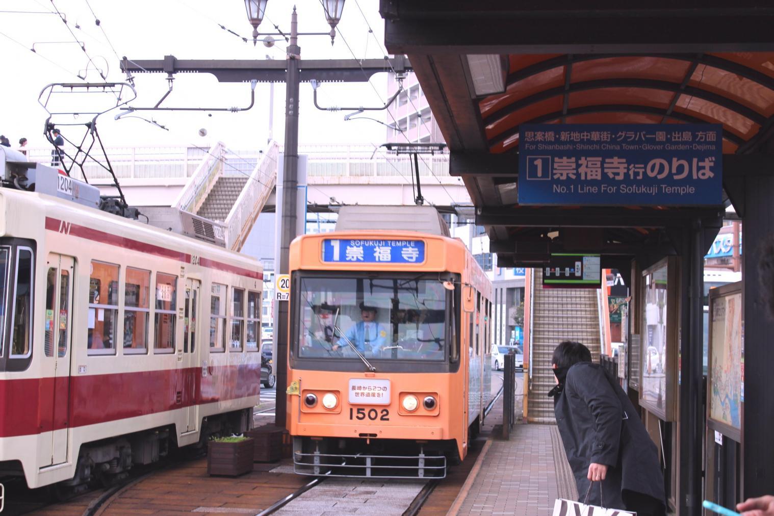 路面電車「長崎駅前」停留所-1