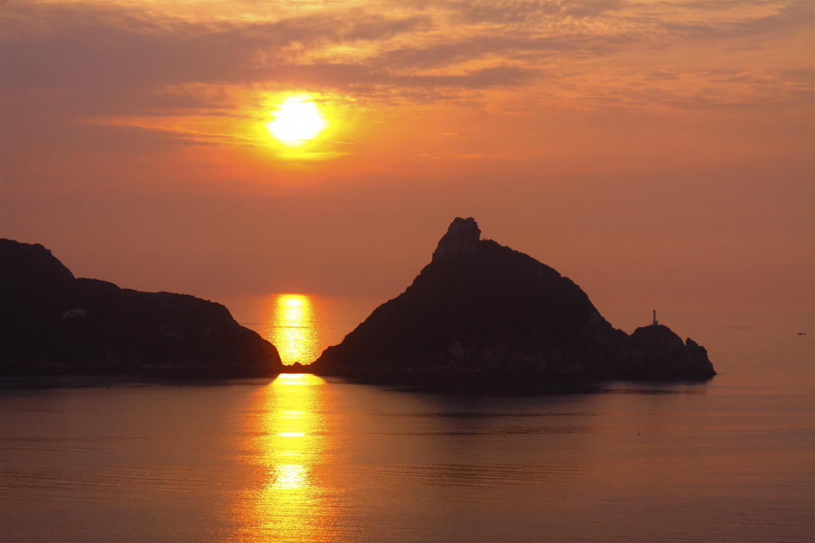 新上五島町・矢堅目の夕日-0
