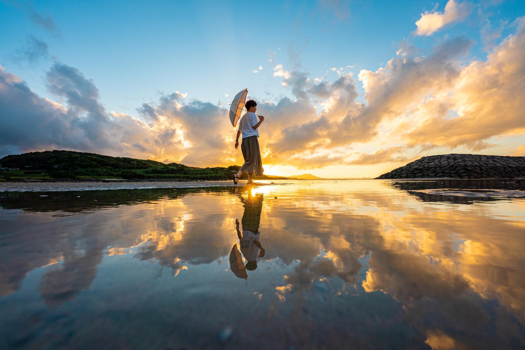 九州のウユニ塩湖・大崎海水浴場で撮る!歓声が上がるほど完璧なリフレクション-3