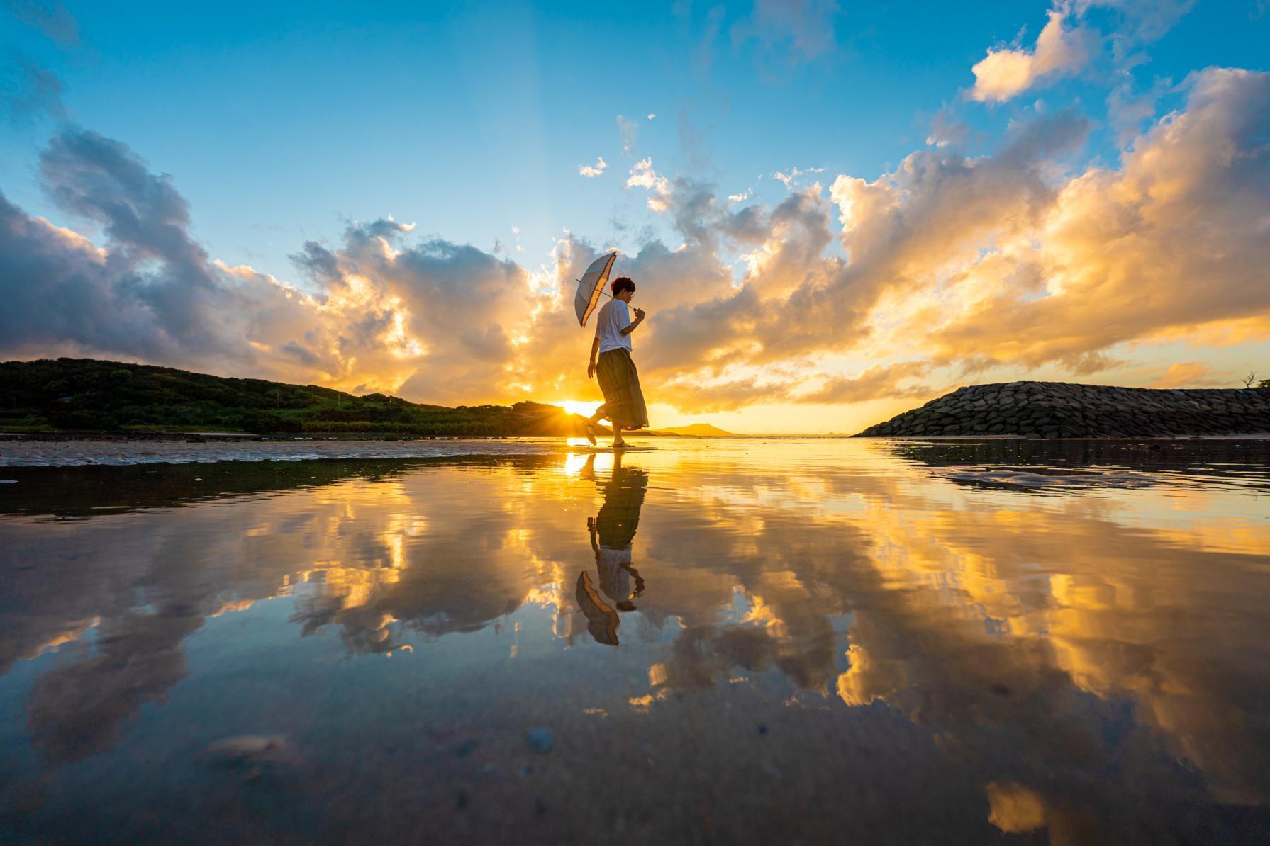 九州のウユニ塩湖・大崎海水浴場で撮る!歓声が上がるほど完璧なリフレクション-4