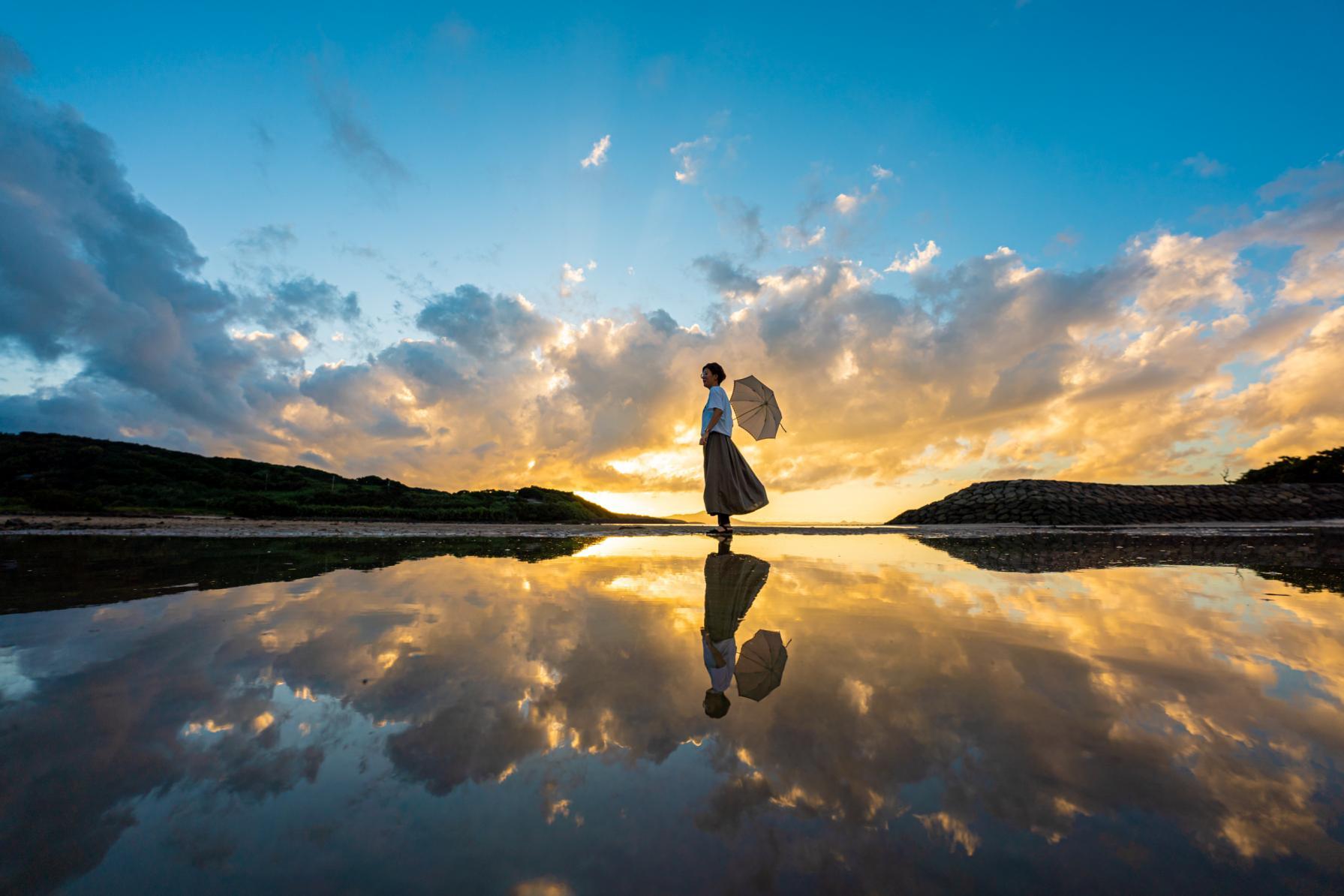 九州のウユニ塩湖・大崎海水浴場で撮る!歓声が上がるほど完璧なリフレクション-0