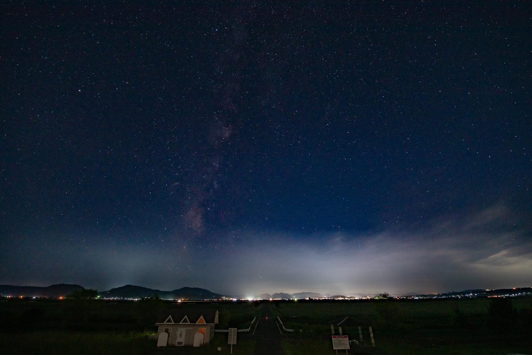 星の観測スポットとして人気「前面堤防中央部公園」-0