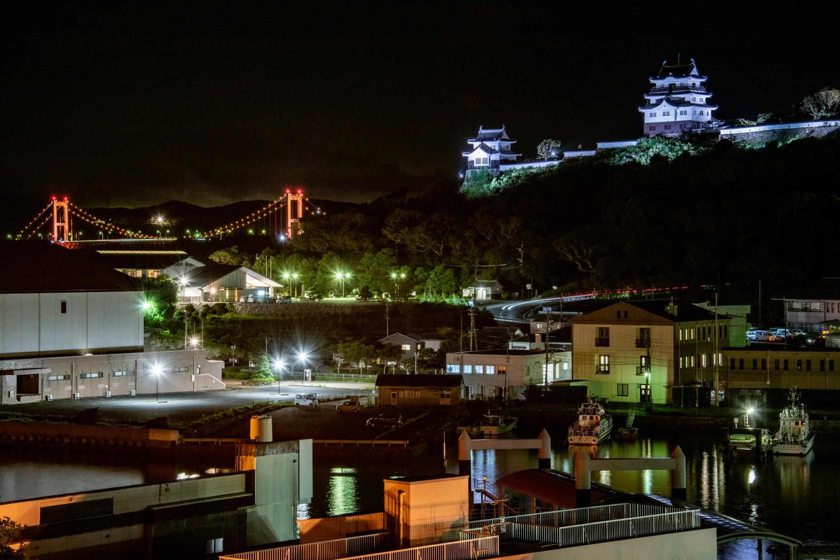 平戸大橋と平戸城を展望できる「崎方公園展望台」-0