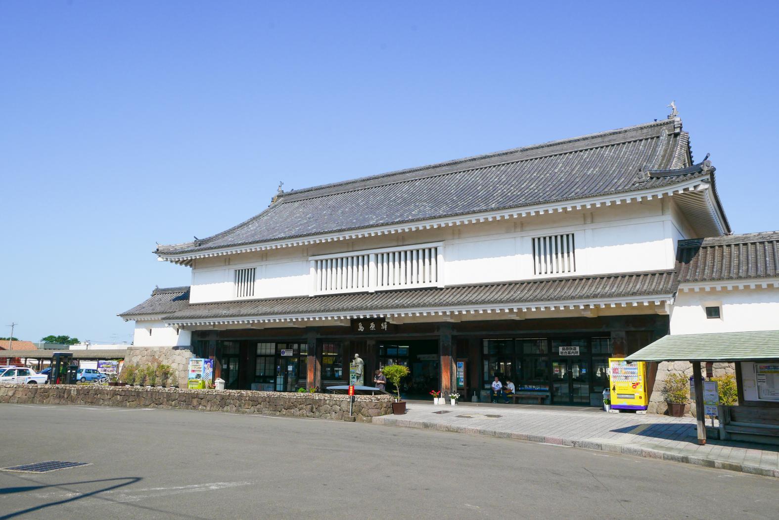 歴史を感じる島原駅-0
