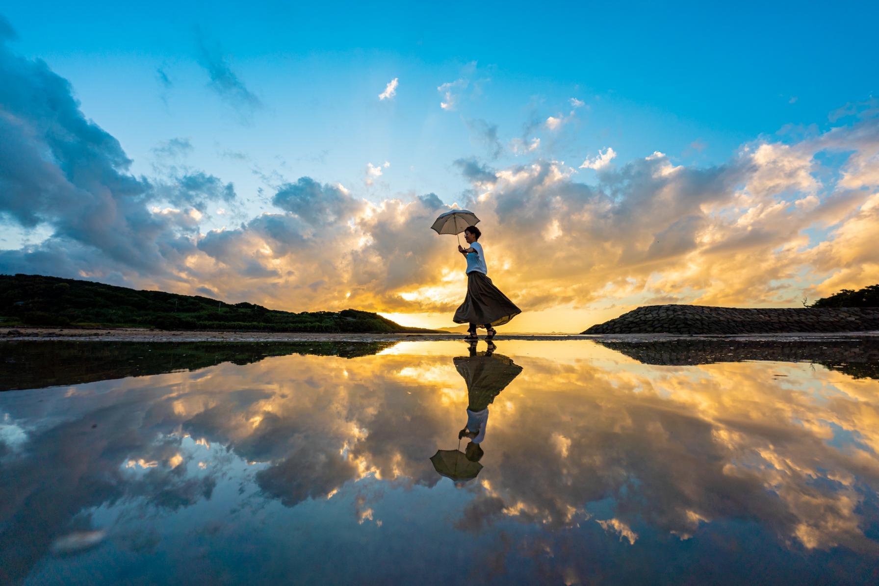 九州で!?ウユニ塩湖のような写真が撮れる!松浦の大崎海水浴場へGO!-1