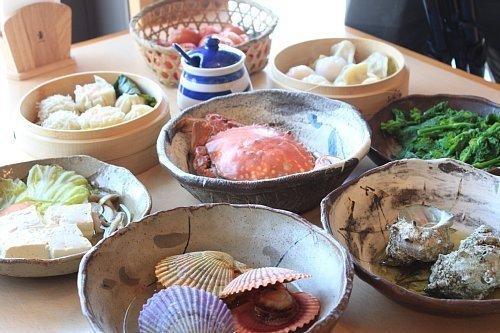 【1日目】12:00 海鮮市場 蒸し釜や-1