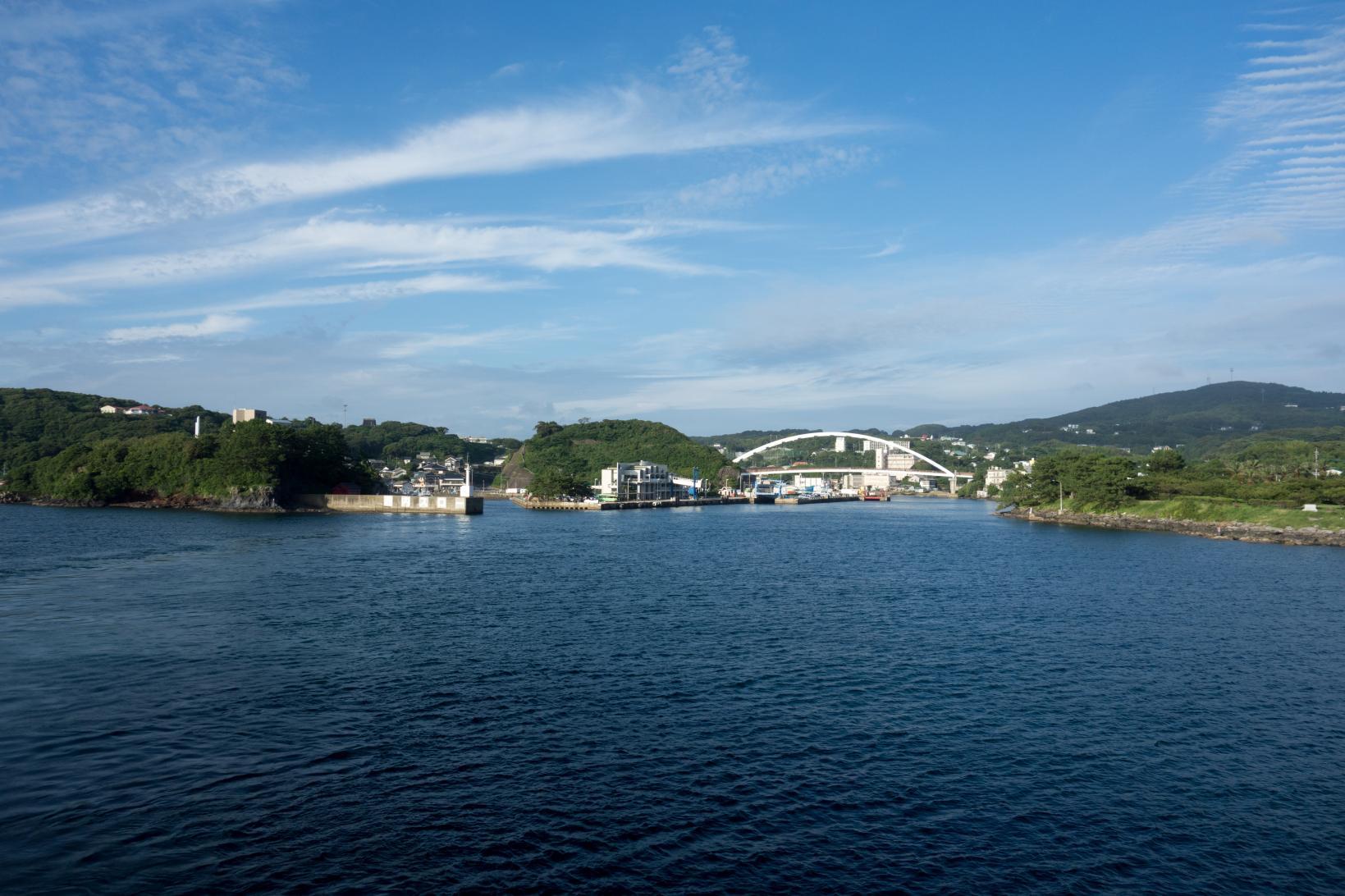 厳原港からジェットフォイルで壱岐へ-1