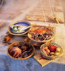 温泉蒸し料理(蒸し釜や)-1