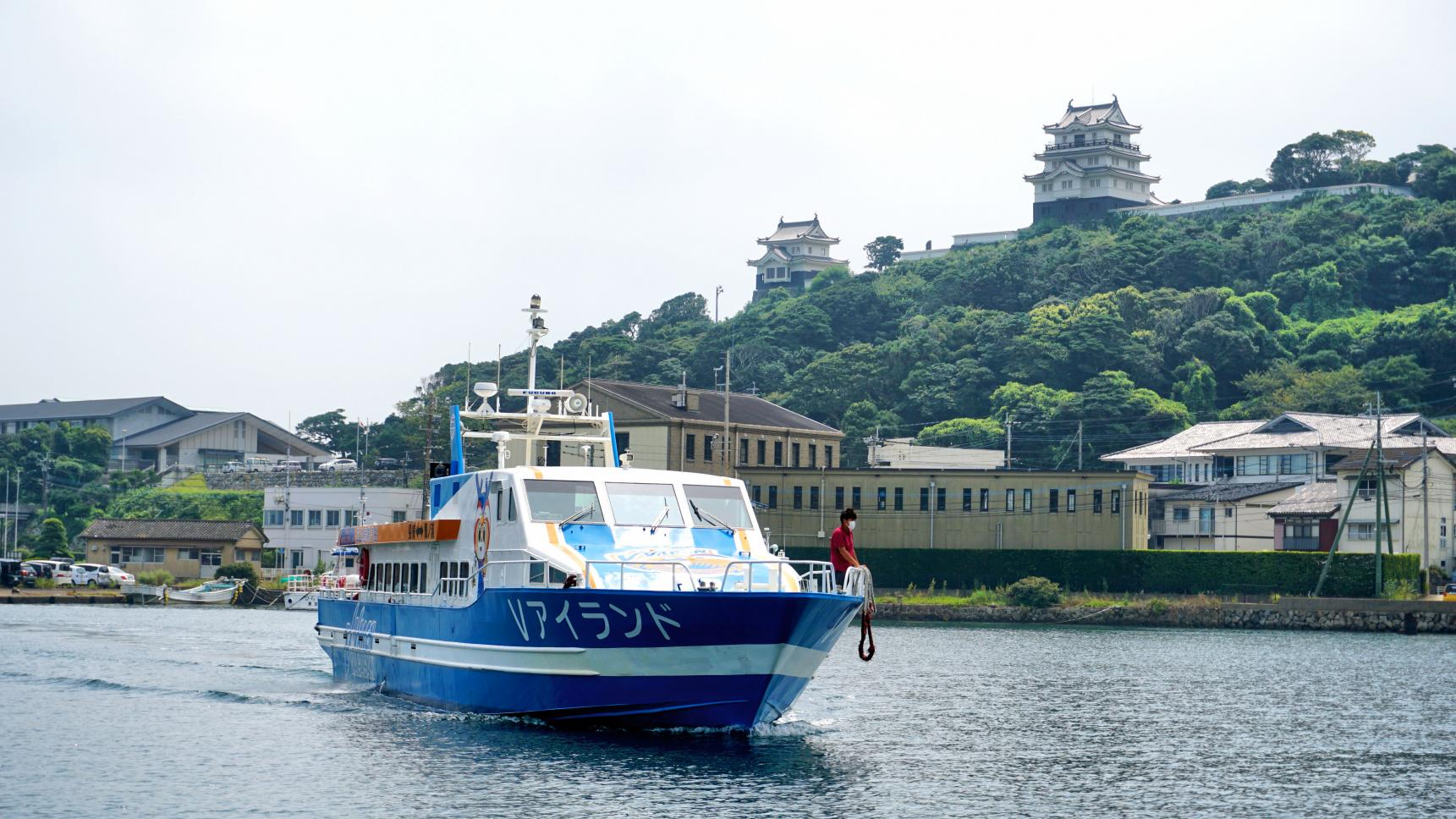 上五島 鯛ノ浦港⇔平戸港 チャーター便航路-1