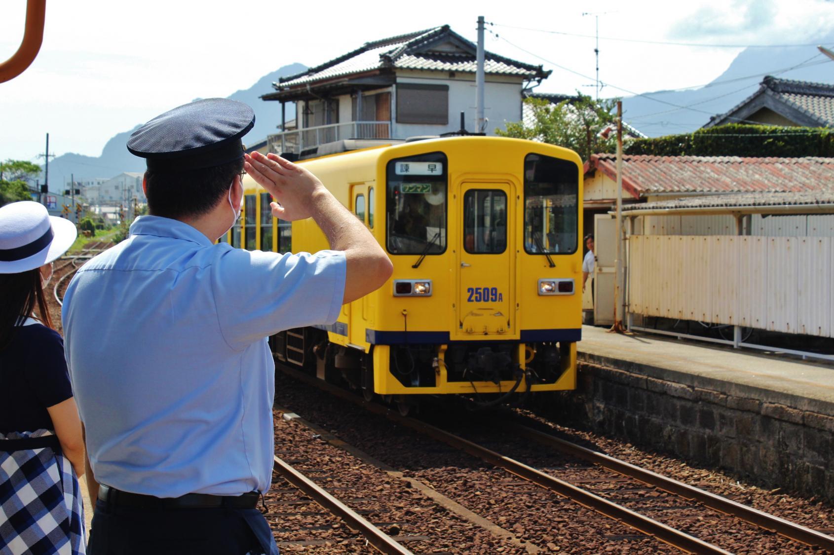 島原鐵道:海空交會的車站「大三東」-0