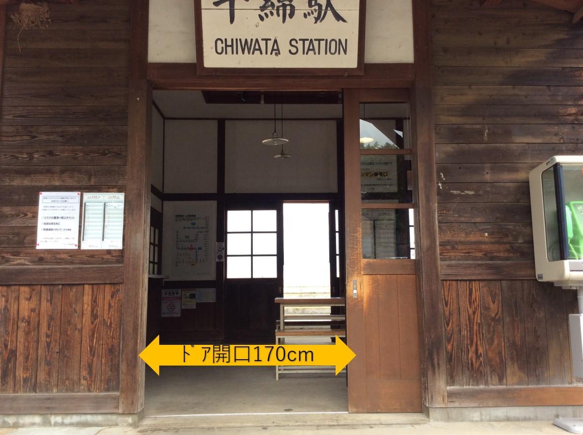 駅舎入口ドア-3