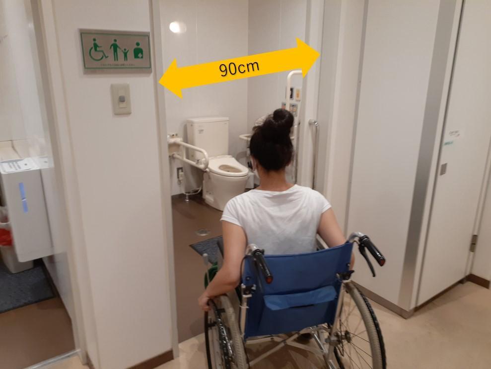 筆者蘭人部屋のオストメイト機能付き多目的トイレ-0