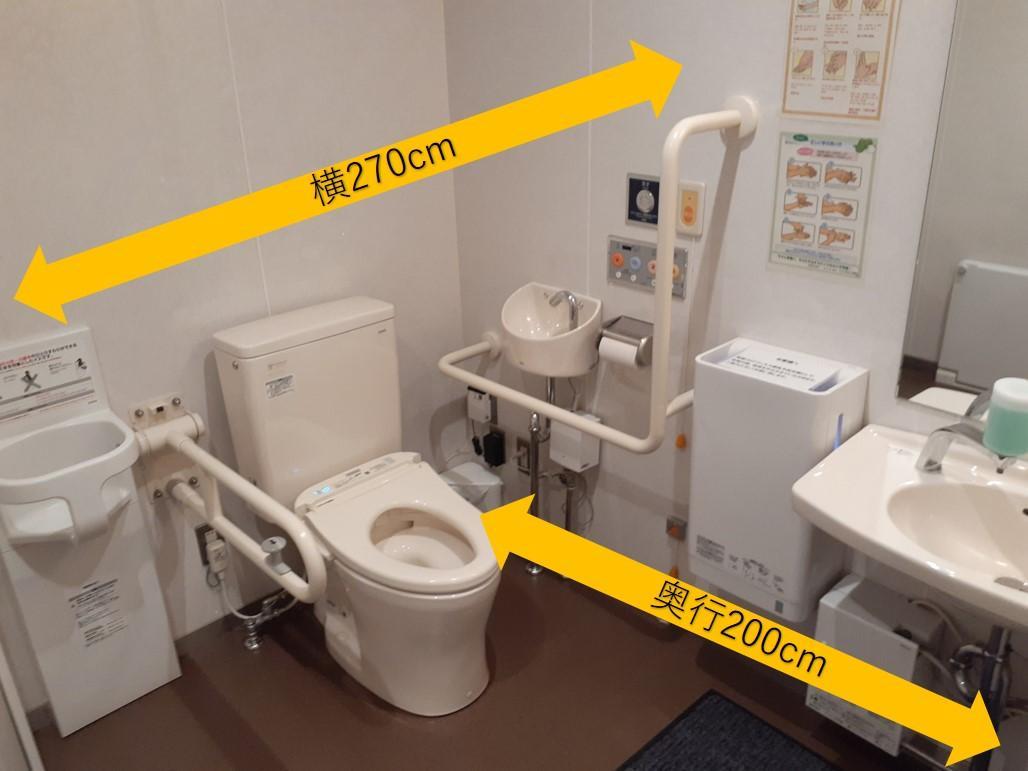 筆者蘭人部屋の多目的トイレ②-1