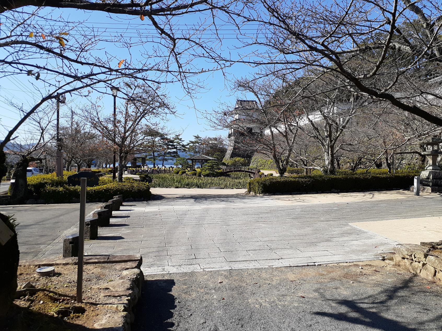 『花しょうぶ園』周りの舗装された道-2