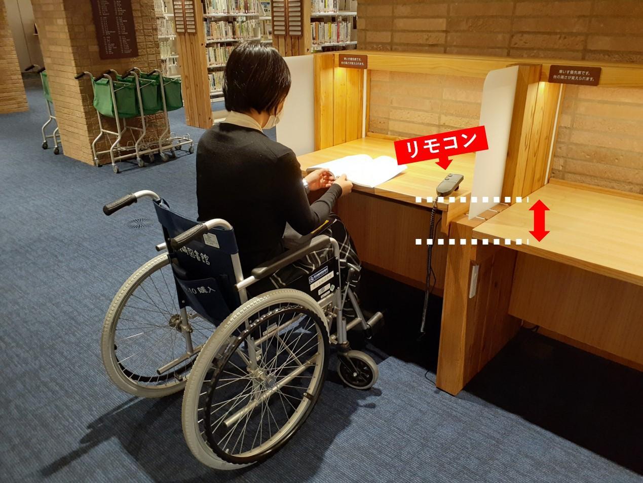 高さ調整のできる机-3