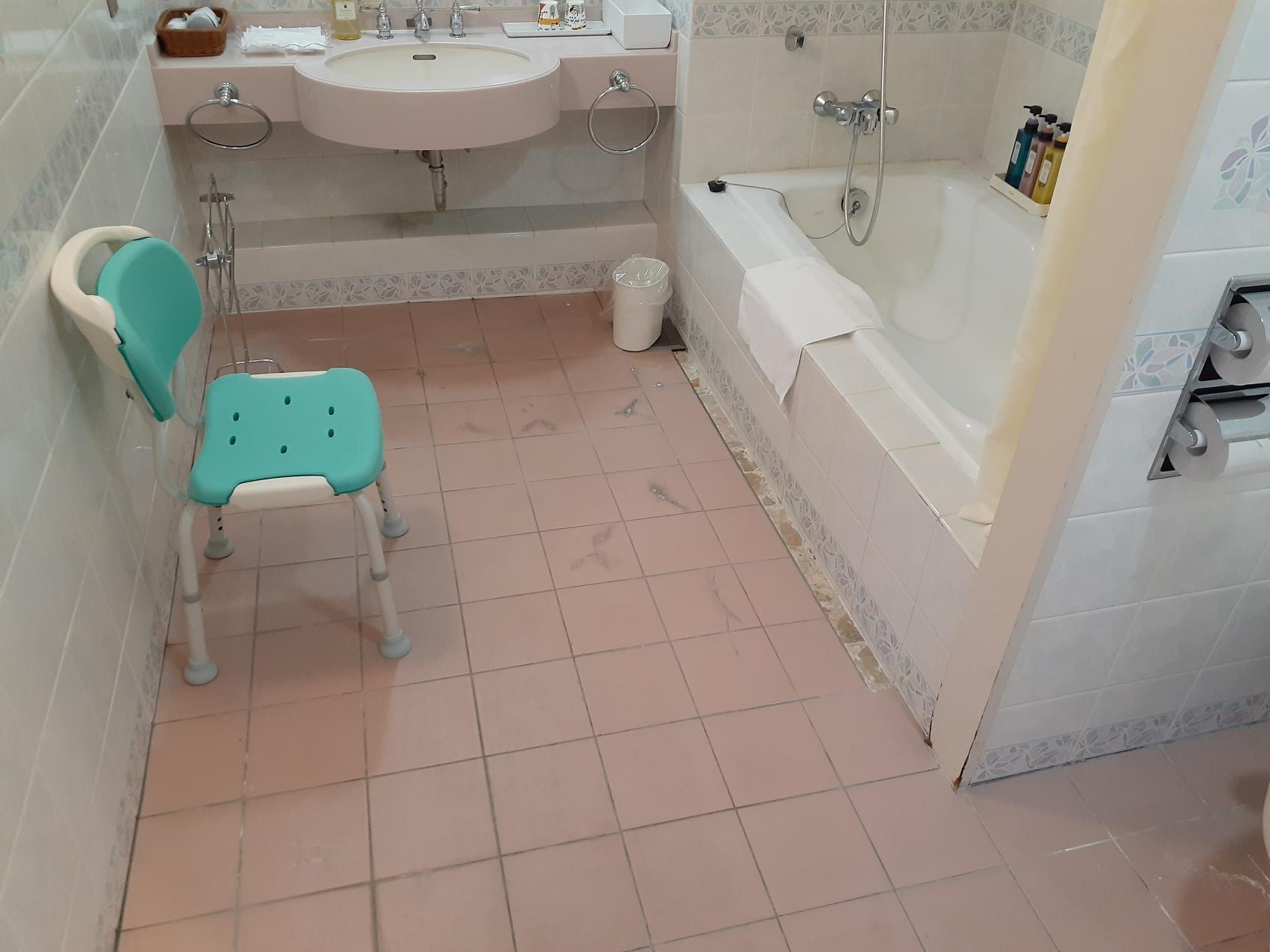 浴槽前と洗面台-2