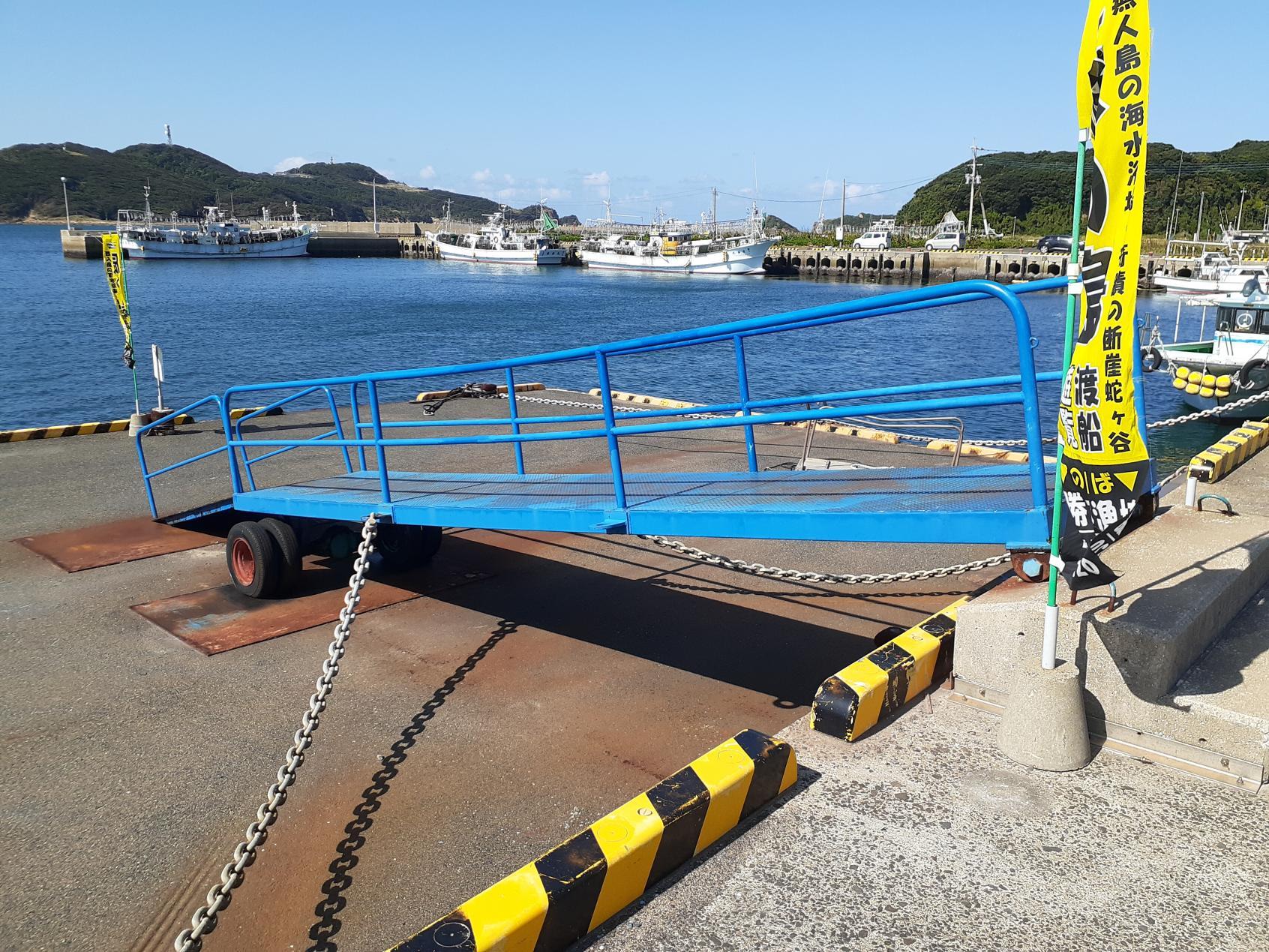 乗船口前のスロープ-0
