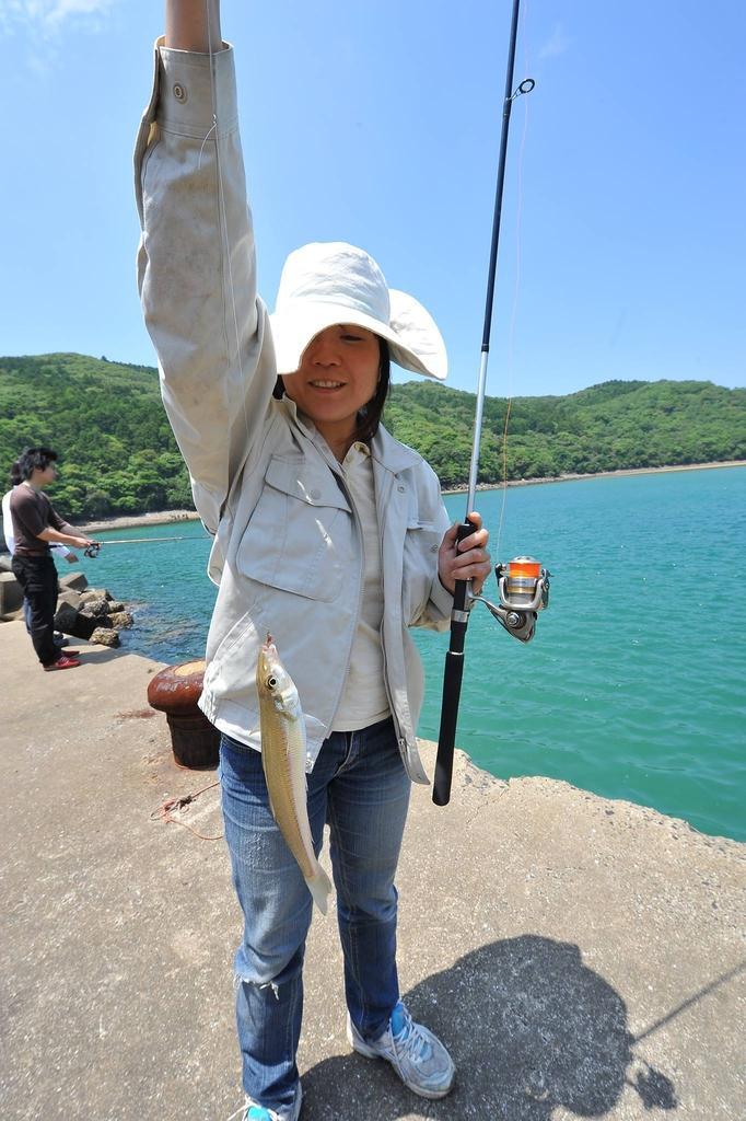 磯釣り体験陸釣り体験(対馬)-3